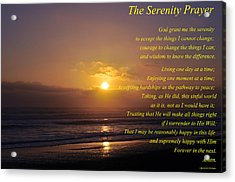 The Serenity Prayer Acrylic Print by Tikvah's Hope