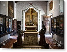 The Serra Cenotaph In Carmel Mission Acrylic Print