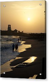 The Setting Acrylic Print by Lee Stickels