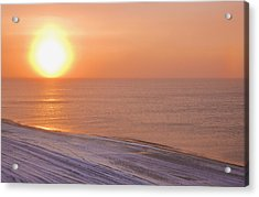 The Setting Sun Shining Through Acrylic Print by Kevin Smith