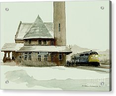 The Seven Fifteen Acrylic Print by Michael Swanson