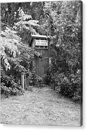 The Shack Out Back In Black And White Acrylic Print