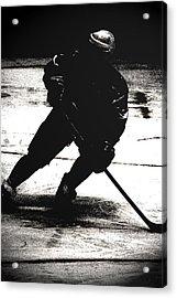 The Shadows Of Hockey Acrylic Print by Karol Livote