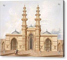 The Shaking Minarets Of Ahmedabad Acrylic Print by Captain Robert M Grindlay