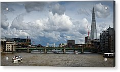 The Shard And Thames View Acrylic Print