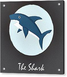 The Shark Cute Portrait Acrylic Print by Florian Rodarte