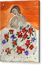 The Shawl Acrylic Print by Mary Carol Williams
