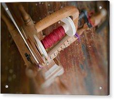 Acrylic Print featuring the digital art The Shawl Yarn by Aliceann Carlton