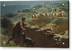 The Sheepstealer Acrylic Print by Briton Riviere
