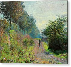The Sheltered Path Acrylic Print by Claude Monet