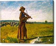Acrylic Print featuring the painting The Shepherd by Henryk Gorecki