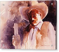 Acrylic Print featuring the painting The Sheriff  by John  Svenson