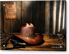 The Sheriff Office Acrylic Print by Olivier Le Queinec