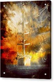 The Ship That Came Home Acrylic Print by Georgiana Romanovna