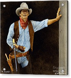 The Shootist... Acrylic Print by Will Bullas