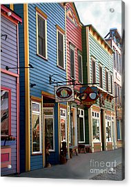 Acrylic Print featuring the photograph The Shops In Crested Butte by RC DeWinter