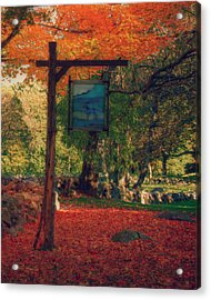 The Sign Of Fall Colors Acrylic Print by Jeff Folger