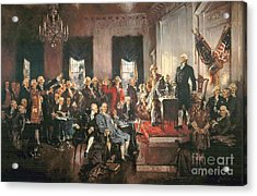 The Signing Of The Constitution Of The United States In 1787 Acrylic Print by Howard Chandler Christy