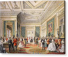 The Signing Of The Marriage Attestation Acrylic Print by English School