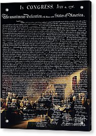 The Signing Of The United States Declaration Of Independence V2 Acrylic Print by Wingsdomain Art and Photography