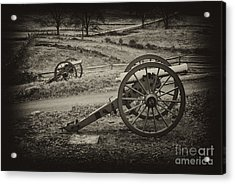 The Silent Guns Of Gettysburg  Acrylic Print by Paul W Faust -  Impressions of Light