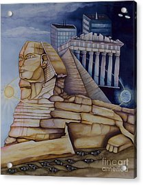 The Silent Witness Of Civilizations Past And Those Yet To Be Born Acrylic Print by Rebecca Barham