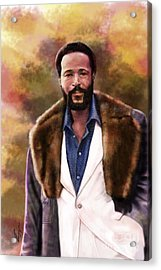The Silky Silky Soul Singer - Marvin Gaye  Acrylic Print by Reggie Duffie