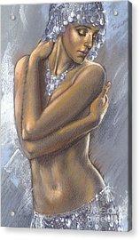 The Silver Dancer Crop Acrylic Print by Zorina Baldescu