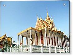 The Silver Pagoda In Phnom Penh Acrylic Print