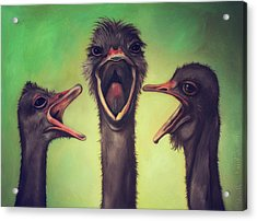 The Singers Acrylic Print by Leah Saulnier The Painting Maniac