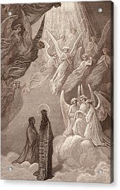 The Singing Of The Blessed In The Sixth Heaven Acrylic Print by Gustave Dore