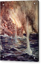 The Sinking Of The Gneisenau Acrylic Print by Cyrus Cuneo