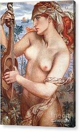 The Siren Acrylic Print by Dante Charles Gabriel Rossetti