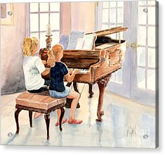 The Sister Duet Acrylic Print by Marilyn Smith