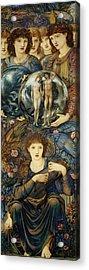 The Sixth Day Acrylic Print by Edward Burne Jones
