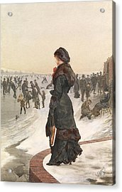 The Skater Acrylic Print by Edward John Gregory