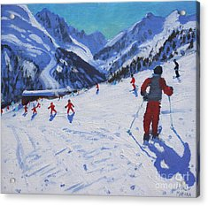 The Ski Instructor Acrylic Print by Andrew Macara