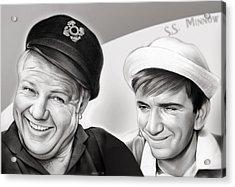 The Skipper And Gilligan Acrylic Print by Greg Joens