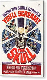 The Skull, Us Poster, Peter Cushing Top Acrylic Print