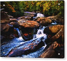 The Skull Waterfall Acrylic Print