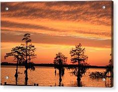 The Sky At Sunset Acrylic Print by Carolyn Ricks