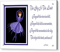 The Sky Is The Limit H 7 Acrylic Print by Andee Design