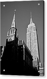 The Skyscraper And The Steeple Acrylic Print