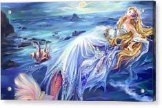 The Sleeping Mermaid Acrylic Print