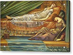 The Sleeping Princess Acrylic Print by Sir Edward Burne-Jones