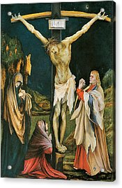 The Small Crucifixion Acrylic Print by Matthias Grunewald