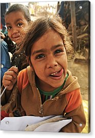 The Smile Acrylic Print by Mandav  Prakash