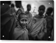 The Smile Of A Novice Acrylic Print by David Longstreath