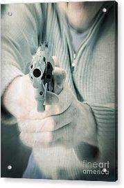 The Smoking Gun Acrylic Print by Edward Fielding