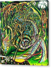 Acrylic Print featuring the painting The Snail by Shawn Dall